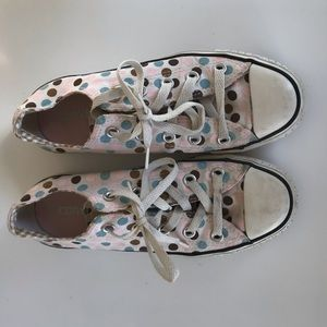 Converse Polka Dot All Star Shoes